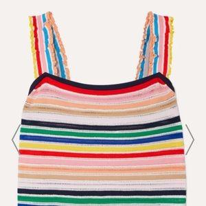 J Crew Rainbow 🌈 Striped stretch-knit top